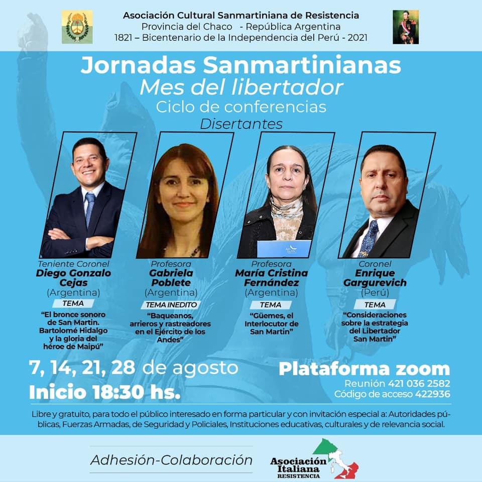 En este momento estás viendo Jornadas Sanmartinianas-Mes del Libertador
