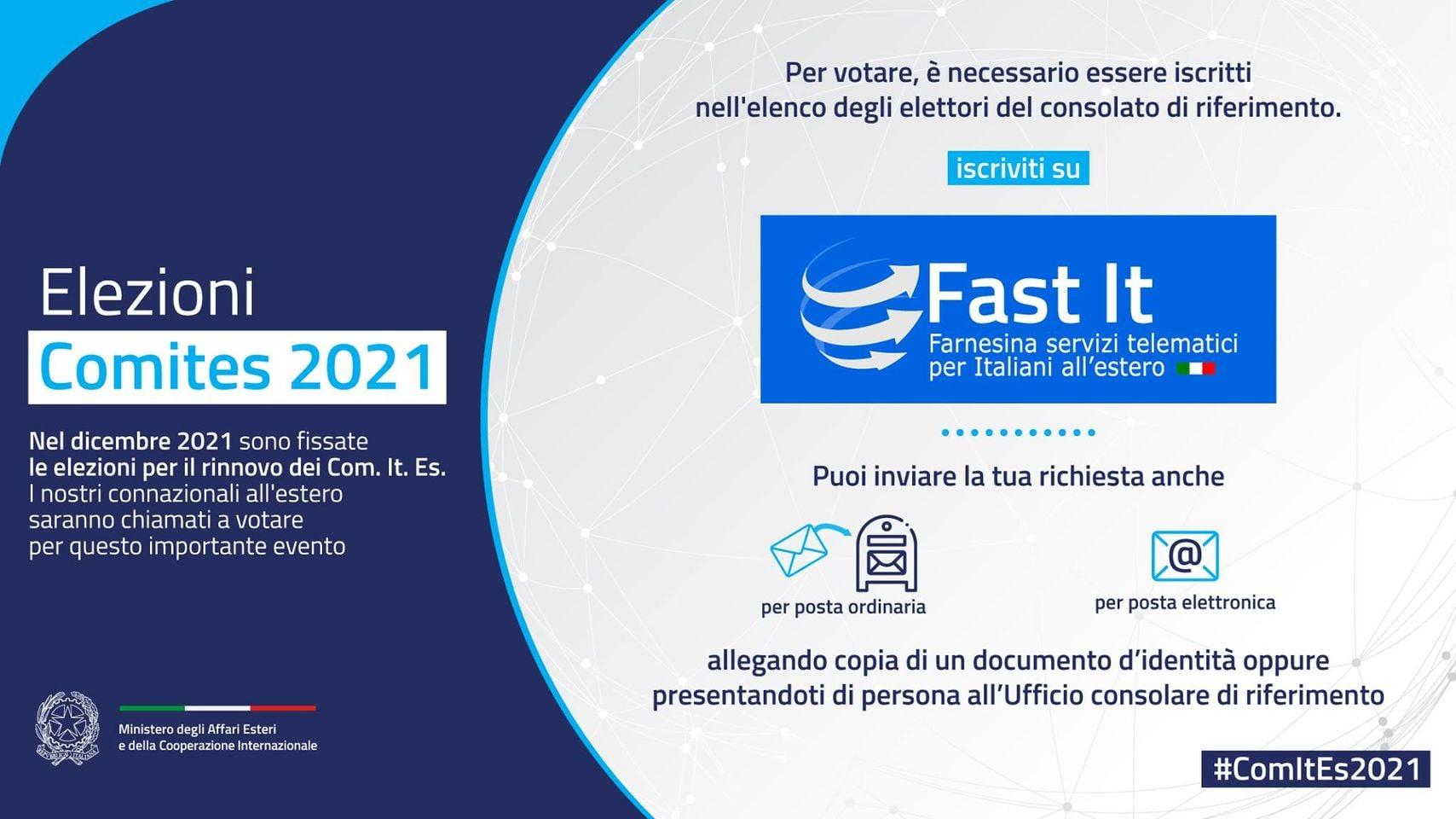 Lee más sobre el artículo Elezioni Comites 2021